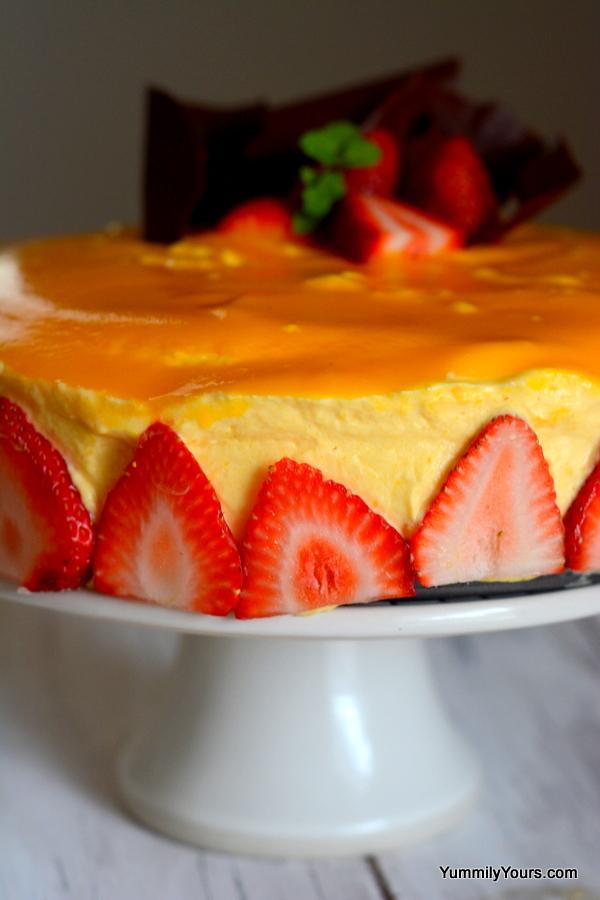 Mango Mousse Cake Egg Free Amp Gelatin Free Yummily Yours