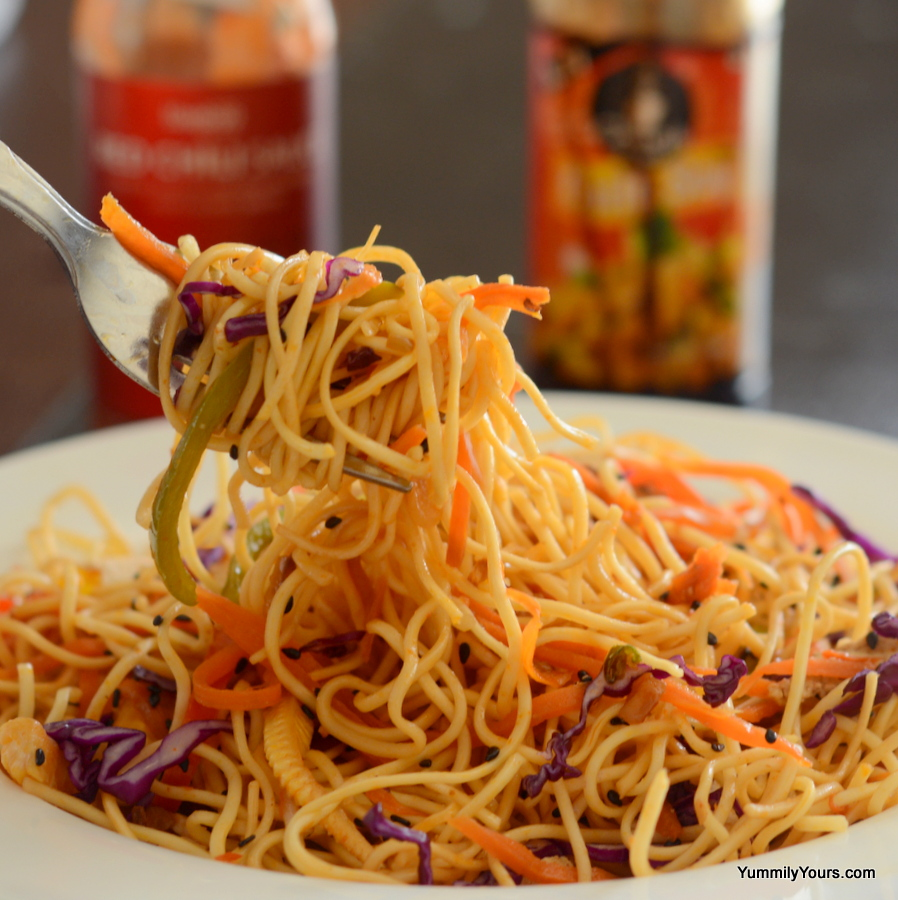 HAKKA NOODLES | VEGETABLE CHOW MEIN - Yummily Yours'