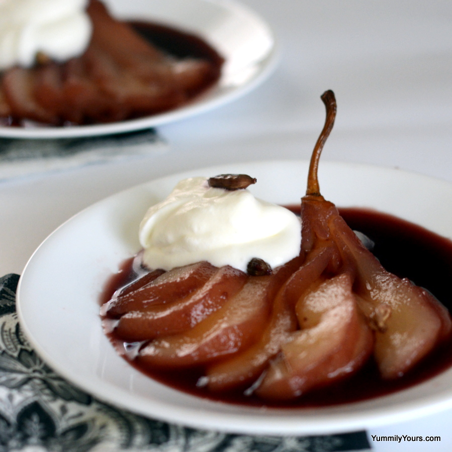POACHED PEARS - WEIGHT WATCHERS & DIABETIC FRIENDLY - Yummily Yours'
