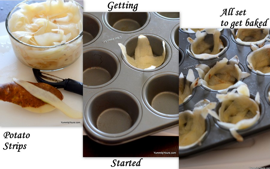 How to make baked potato chips?
